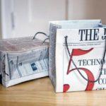 Cách làm túi giấy từ báo cũ
