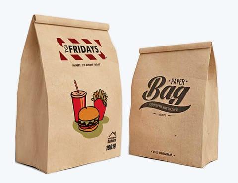 in túi giấy đựng thức ăn nhanh giá rẻ
