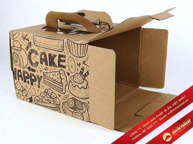 in hộp giấy đựng bánh chất lượng