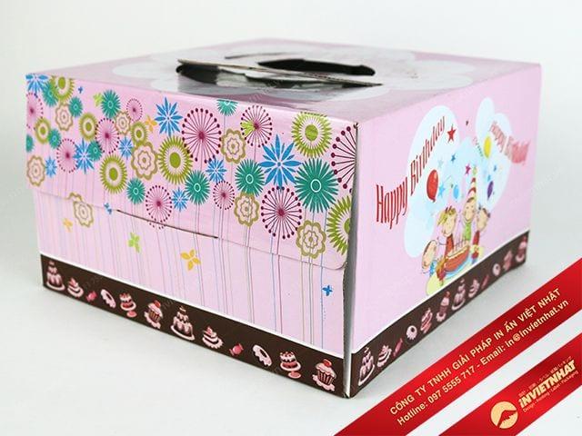 in hộp giấy đựng bánh tuyệt đẹp