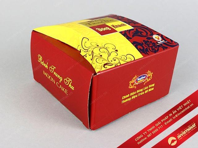 in hộp giấy đựng bánh trung thu