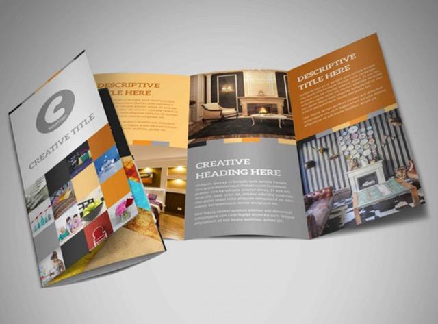 Ấn phẩm brochure được in trên giấy