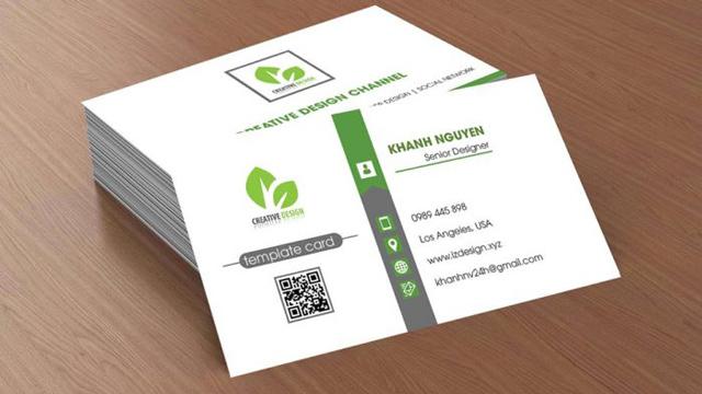 Name card hay danh thiếp có đủ thông tin về cá nhân, tổ chức