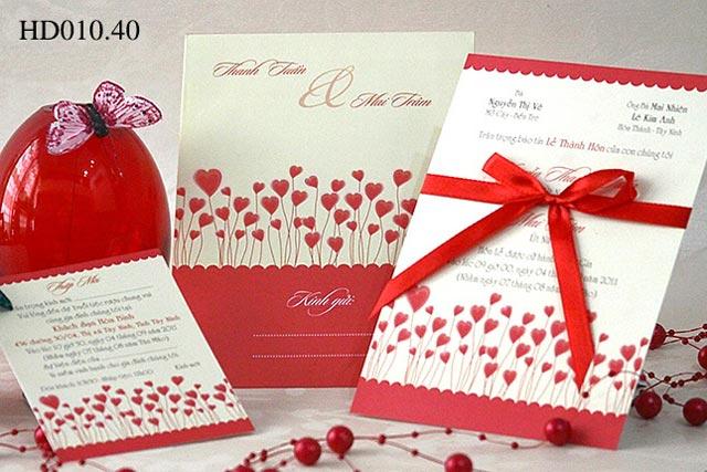 Thiệp cưới in từ chất liệu giấy couche