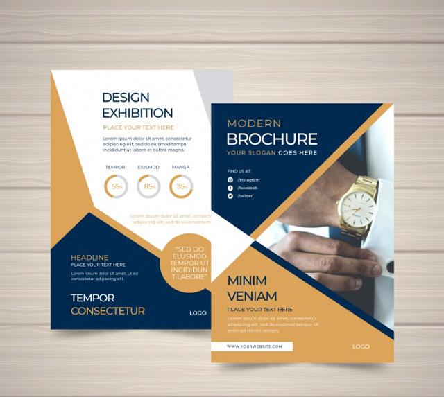 Chọn hình ảnh để in trên brochure