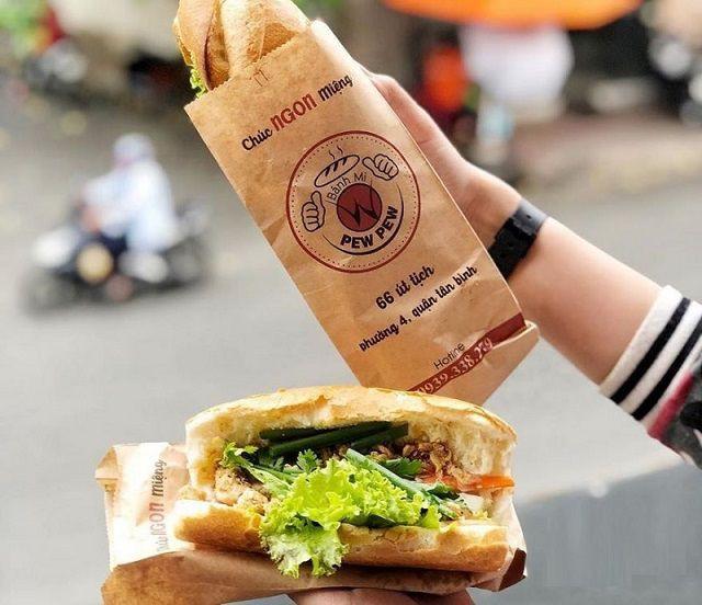 Mẫu túi giấy của thương hiệu bánh mì Pew Pew