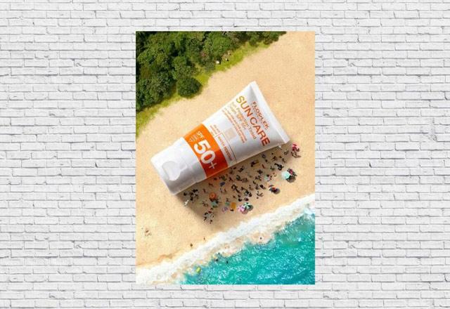 Thiết kế poster quảng cáo sản phẩm kem chống nắng