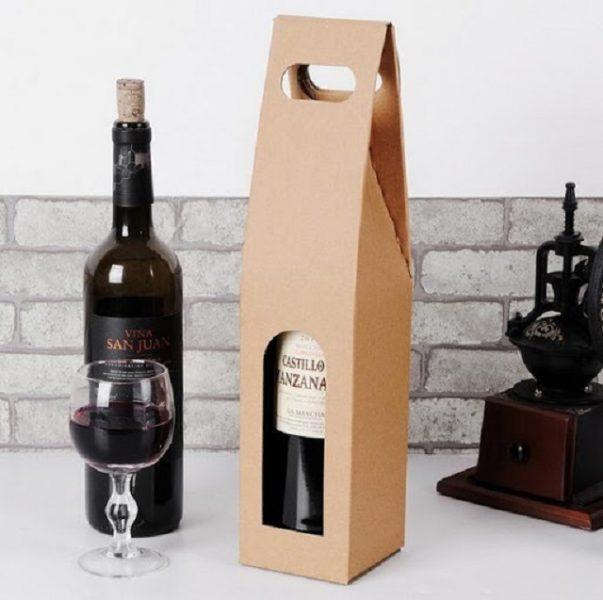 Mẫu hộp đựng rượu có quai cầm tiện lợi