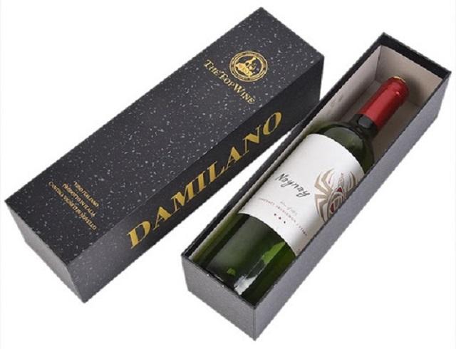 Mẫu hộp rượu cao cấp được in bằng lớp metalized