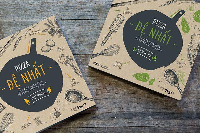 Mẫu thiết kế của thương hiệu Pizza Đệ Nhất