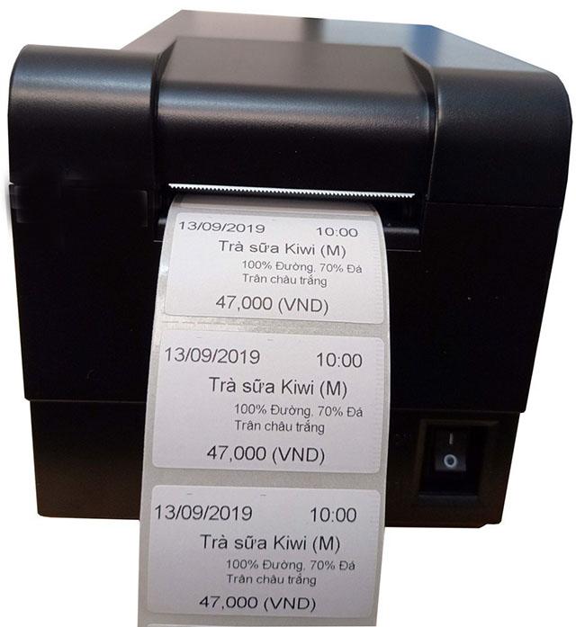 Thông qua cách bế tem để in tem nhiệt dùng trong siêu thị